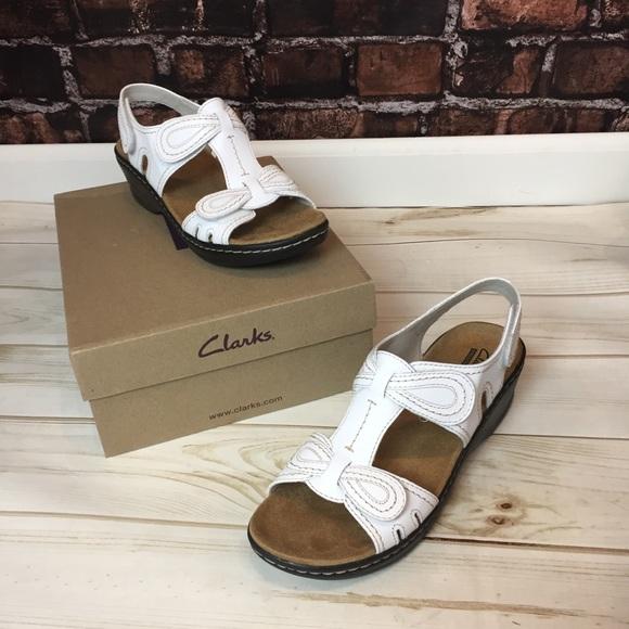 61d3f40e7e25b5 Clarks Shoes - Women s Clark s NEW IN BOX White Clark Sandals 8.5